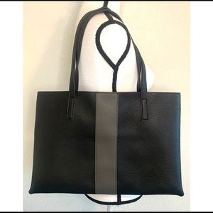 Vince Camuto black & Gray 100% leather tote 18x12""